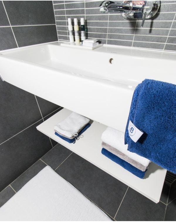 Blue Bubble - Serviette invité - Magnifique qualité - Bleue - Microfibre