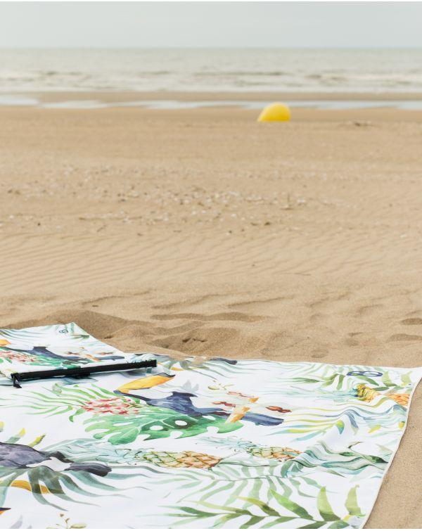 Drap de plage - Anuanua - Flamant rose - 180x100 cm