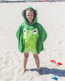 Poncho de plage enfant - Heiata - Grenouille - 120x60 cm