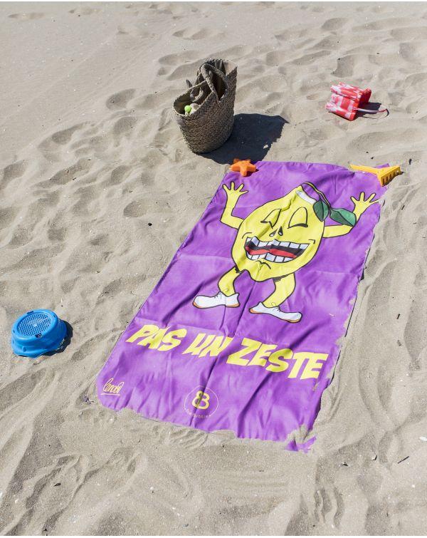 """Drap de plage - Heiata - """"Pas un zeste"""" - 140x70 cm"""