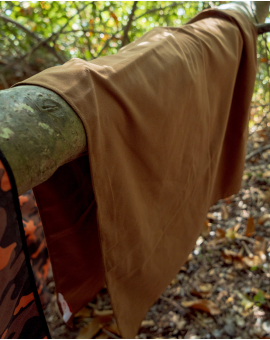 Drap de douche - suédé - marron - 70x130 cm
