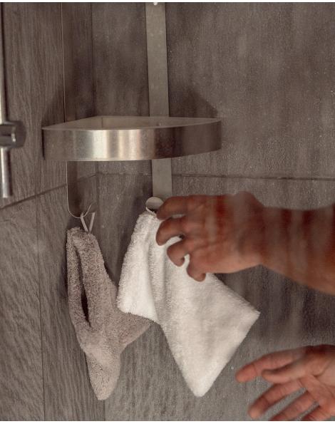 Gant de toilette - Manavai - Perle - 22x15cm