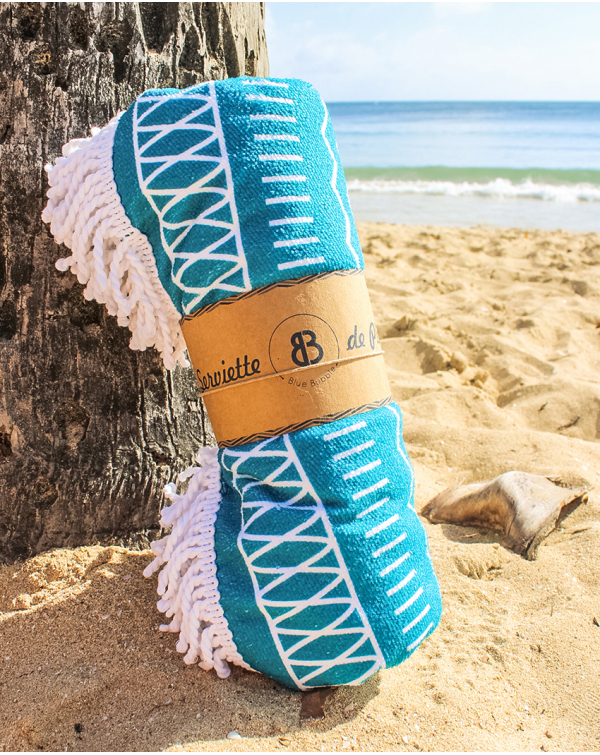 Round beach towel - Greek