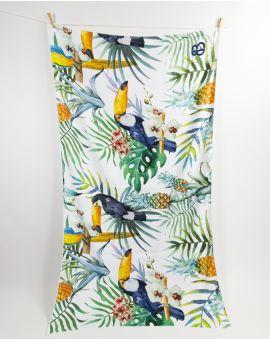Drap de plage - Anuanua - Toucan - 180x100 cm