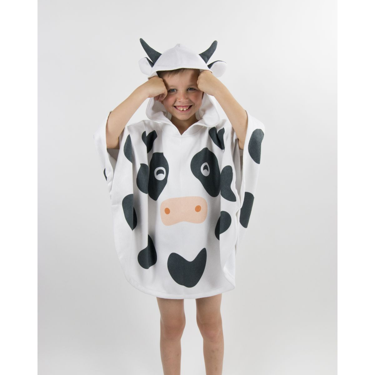 poncho de plage enfant en microfibre anuanua imprim vache vasion. Black Bedroom Furniture Sets. Home Design Ideas