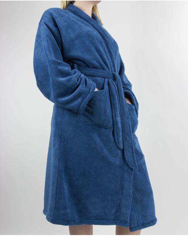 Blue Bubble - Peignoir - Microfibre - Bleu - L/XL
