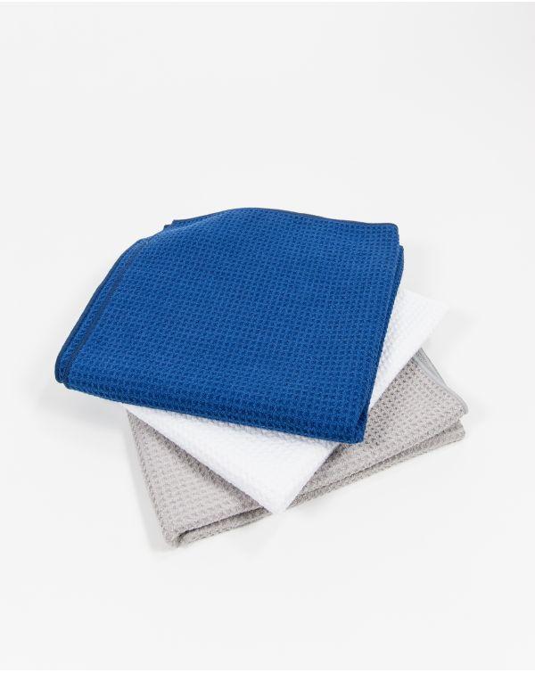 Blue Bubble - Serviette de toilette - Grise - Microfibre