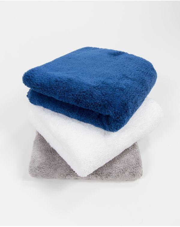 Blue Bubble - Serviette de toilette - Blanche - Microfibre